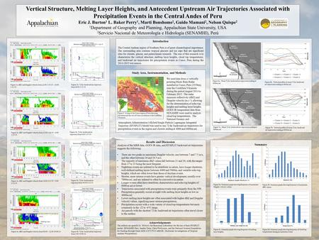 Vertical Structure, Melting Layer Heights, and Antecedent Upstream Air Trajectories Associated with Precipitation Events in the Central Andes of Peru Eric.