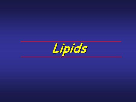 Lipids. Objectives Identify, by name and skeleton structure, the 4 general classes of lipids. Describe the general chemical characteristics of the 4 classes.