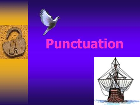 Punctuation. Introduction The punctuation marks studied will be: Periods Question Marks Exclamation Points Quotations commas.