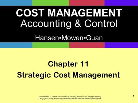 Examples of Strategic Management Accounting