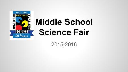 Middle School Science Fair 2015-2016. What is Science Fair? Complete a project on something you are interested in Compete at ADS on January 22, 2016 Possibly.