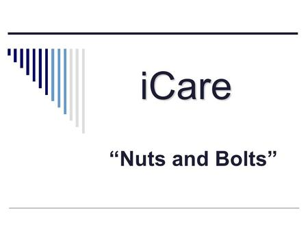 "ICare ""Nuts and Bolts""."