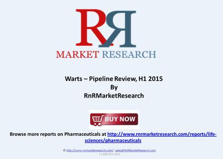 Browse more reports on Pharmaceuticals at  sciences/pharmaceuticalshttp://www.rnrmarketresearch.com/reports/life-