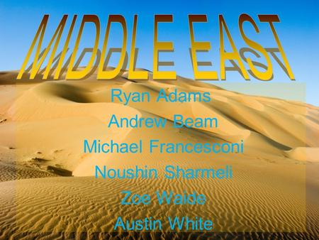 Ryan Adams Andrew Beam Michael Francesconi Noushin Sharmeli Zoe Waide Austin White.