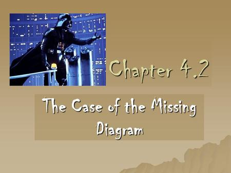 Chapter 4.2 The Case of the Missing Diagram. Objective: After studying this section, you will be able to organize the information in, and draw diagrams.