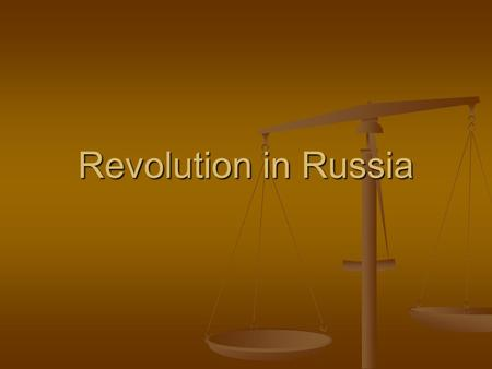 Revolution in Russia. National Collapse World War I was devastating for Russia World War I was devastating for Russia Russia's lack of industrial development.