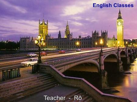 English Classes Teacher - Rô.