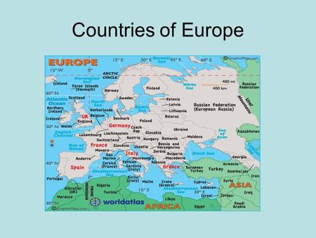 Countries of Europe.