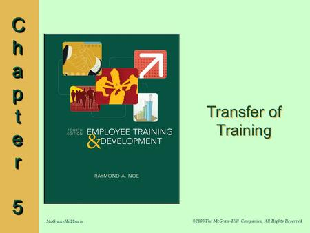 Transfer of Training Chapter 5.