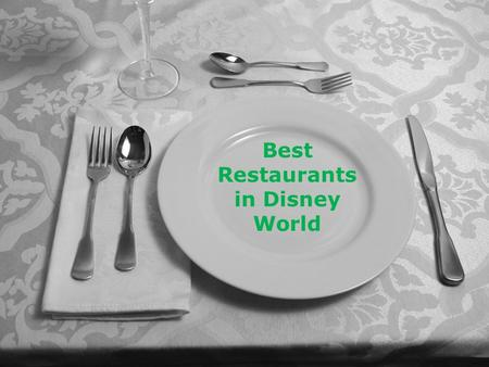 Best Restaurants in Disney World. Disney World is not just about rides and attractions. Another thing that people love about this world famous theme park.