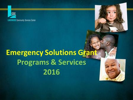 Emergency Solutions Grant Programs & Services 2016.