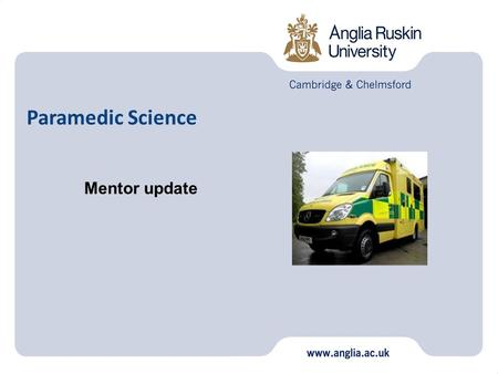 Paramedic Science Mentor update. Practice Assessment Team Current Teaching and Assessing Qualifications Assessment Taxonomy Assessment Documents Assessment.