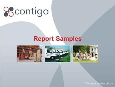 Report Samples. 2 Stop Report Shows where, when and for how long an item has stopped.