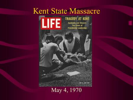 "Kent State Massacre May 4, 1970. ""Ohio"" by CSN&Y Immediately after the Kent State shooting on May 4, 1970, Neil Young composed the song Ohio after looking."