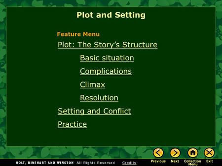 Plot and Setting Plot: The Story's Structure Basic situation