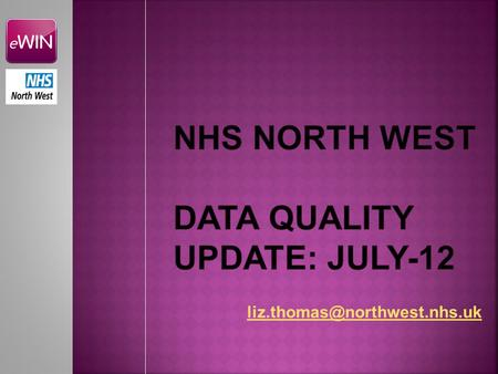 NW retained first place Dec '11 to Jul'12 Error count reduced by 2,685 (17.4%) errors Jun-Jul Error count reduced by 28,235.