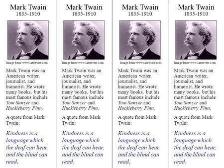 Mark Twain Worksheets
