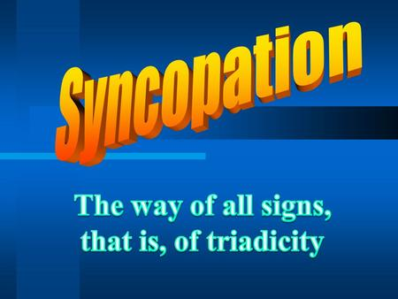 A noun form of syncopation has 3 meanings: #1#1: (phonology) the loss of sounds in the interior of a word (as in `fo'c'sle' for `forecastle'), #2#2: a.