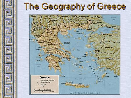 The Geography of Greece. Bronze Age Greece Crete: Minoan Civilization (Palace at Knossos)