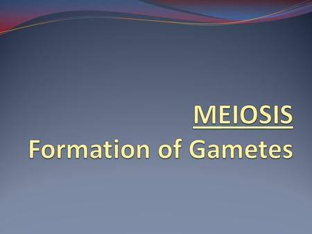 Meiosis: reduction division that results in half the number of chromosomes to make g ametes.