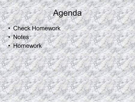 Agenda Check Homework Notes Homework. Cl 2 CBr 4 Br 2.