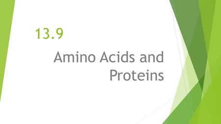 13.9 Amino Acids and Proteins. First things first… A BASIC AMINO ACID STRUCTURE Now lets split this amino acid into its 3 main component parts..