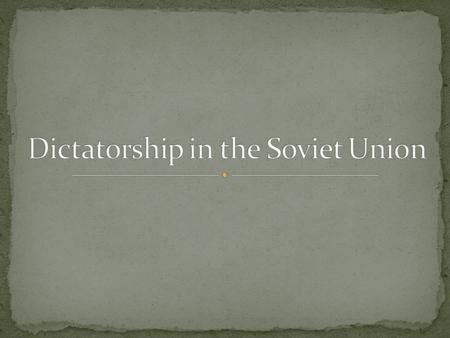 Renamed Russia the Union of Soviet Socialist Republics (USSR): Soviets or revolutionary councils now held power. Before this, Russian Leader was Vladimir.