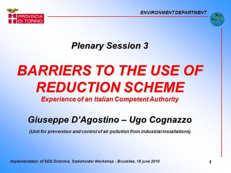 BARRIERS TO THE USE OF REDUCTION SCHEME