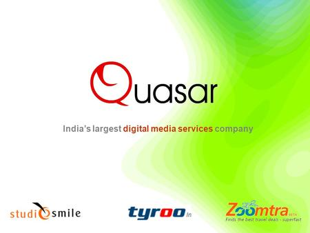 India's largest digital media services company. -`-` (Online agency on Record) Few Clients … (Online agency on Record)