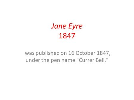 jane eyre ap question Ap open questions for jane eyre 1980: a recurring theme in literature is the classic war between a passion and responsibilityfor instance, a personal cause, a love, a desire for revenge.