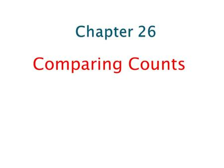 Comparing Counts.  A test of whether the distribution of counts in one categorical variable matches the distribution predicted by a model is called a.
