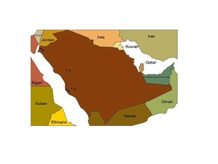 Arabia is a huge peninsula in southwest -ern Asia. Arabia.
