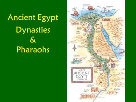 Ancient Egypt Dynasties & Pharaohs. The whole civilization of Ancient Egypt lasted from about 3100 B.C. to about 525 B.C. or just over 2500 years. If.