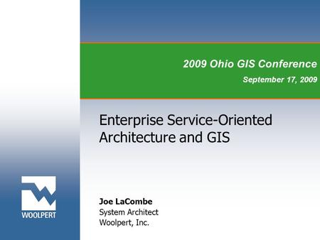 Enterprise Service-Oriented Architecture and GIS