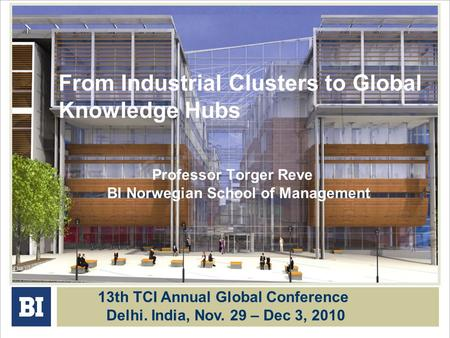 From Industrial Clusters to Global Knowledge Hubs