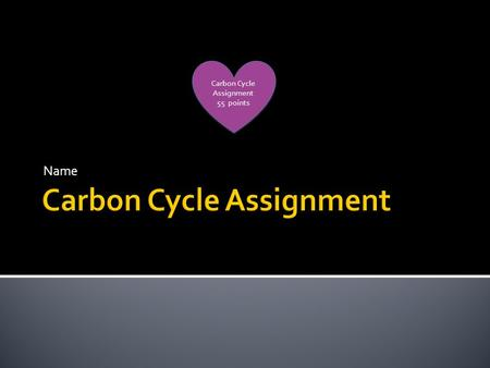 Name Carbon Cycle Assignment 55 points Carbon Cycle Assignment 55 points.
