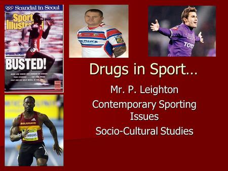 the issues of drugs in sport The legalisation of drugs in sport may be fairer and safer in 490 bc, the persian army landed on the plain of marathon, 25 miles from athens the athenians sent a messenger named feidipides to sparta to ask for help he ran the 150 miles in two days the spartans were late the athenians attacked and, although outnumbered five to one, were victorious.