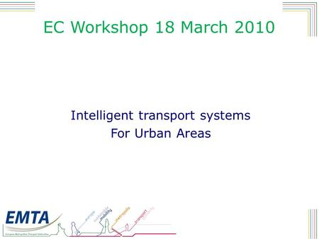 a report on transportation within urban areas National transport development policy committee two key areas systems-based approach urban transport.