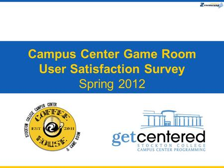 Campus Center Game Room User Satisfaction Survey Spring 2012.