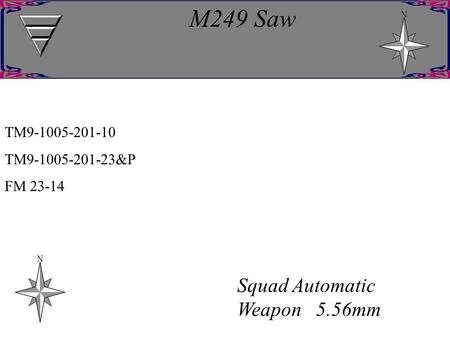 M249 Saw Squad Automatic Weapon 5.56mm TM