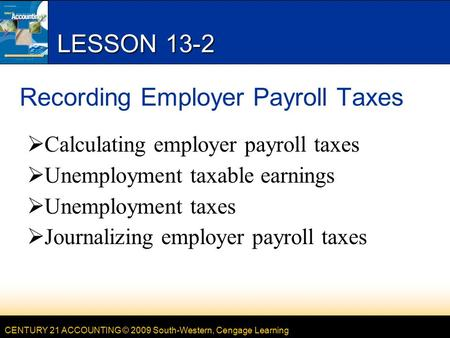 Chapter Employer Payroll Taxes. Federal Income Tax Social Security