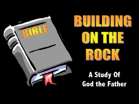 A Study Of God the Father. But the Lord God called to the man, Where are you?