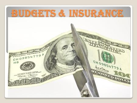 BUDGETS & INSURANCE. LEARNING TARGETS Students will… 1. Define what a budget is. 2. Explain the importance of preparing a monthly budget. 3. Explain the.