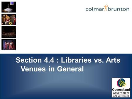 Section 4.4 : Libraries vs. Arts Venues in General.
