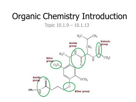 Organic Chemistry Introduction