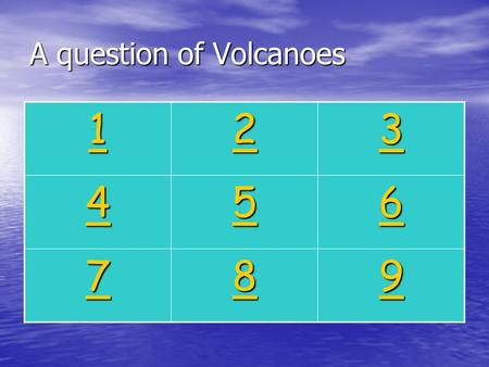 A question of Volcanoes 1111 2222 3333 4444 5555 6666 7777 8888 9999.
