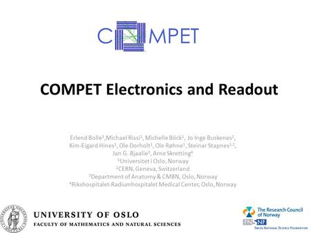 COMPET Electronics and Readout