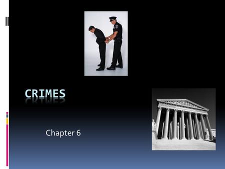 Chapter 6. The Nature of Crimes  Crimes are public wrongs, and are classified as being:  Felonies  Misdemeanors  Summary or petty offenses.