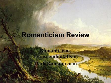dark romanticism essays What are the similarities and differences between classicism and romanticism in art and literature.