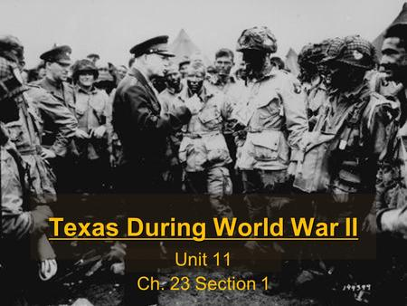 Texas During World War II